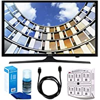 Samsung UN50M5300 Flat 50 1080p LED SmartTV (2017 Model) w/ Accessories Bundle Includes, 6ft High Speed HDMI Cable - Black, SurgePro 6-Outlet Surge Adapter w/ Night Light and LED TV Screen Cleaner