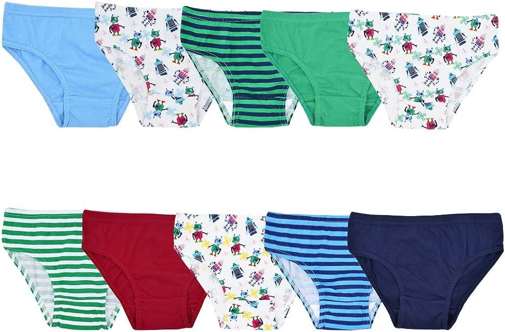 Mutande per Bambini Palleon Confezione da 10 Slip da Ragazzi