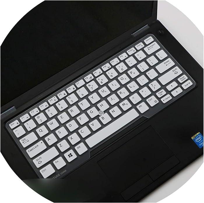 """Laptop Keyboard Cover Protector Skin Compatible for 14"""" Dell Latitude 5450 3340 7480 7490 5490 5491 E5450 E5470 E7270 E7450 E7490 E5490,White"""