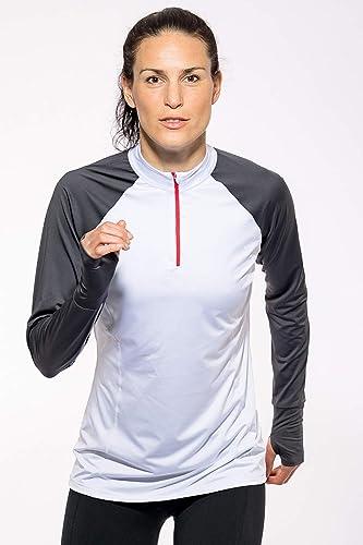 Sundried Half Zip Top f/ür Frauen am besten f/ür Lauf Gym Sports Fitness Langarm Half Zip Pullover