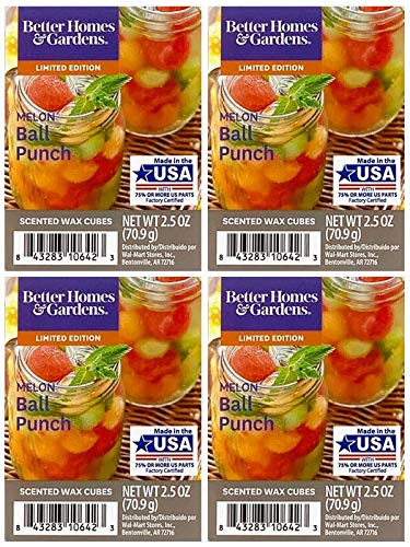 (Better Homes and Gardens Melon Ball Punch Scented Wax Cubes - 4-Pack)