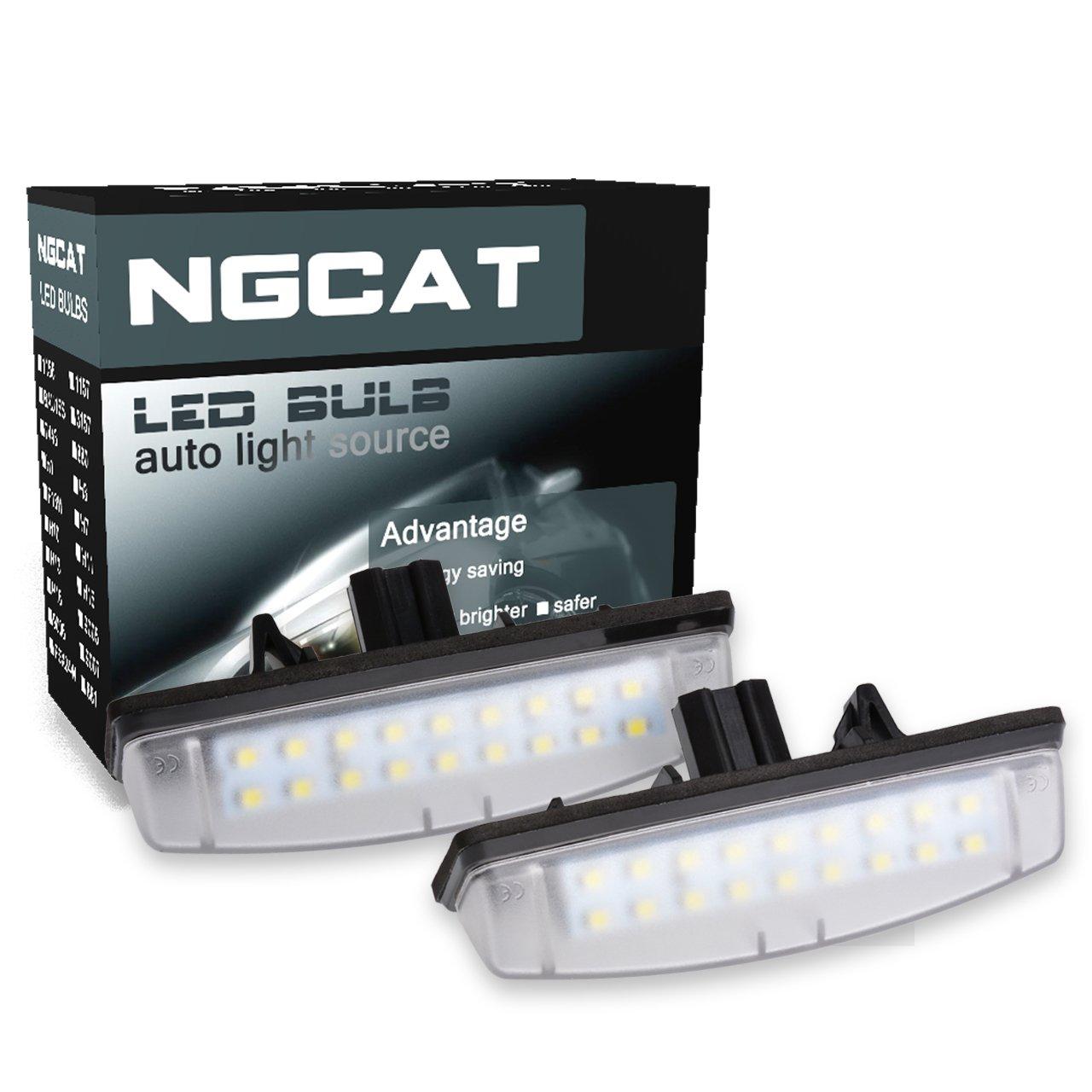 ngcat 1 Paar 3528 18SMD weiß 6000 K LED License ...