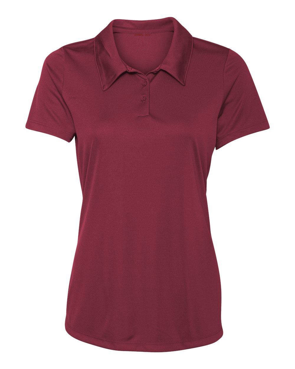 Women's Dry-Fit Golf Polo Shirts 3-Button Golf Polo's in 20 Colors XS-3XL Shirt MAROON-L by Animal Den