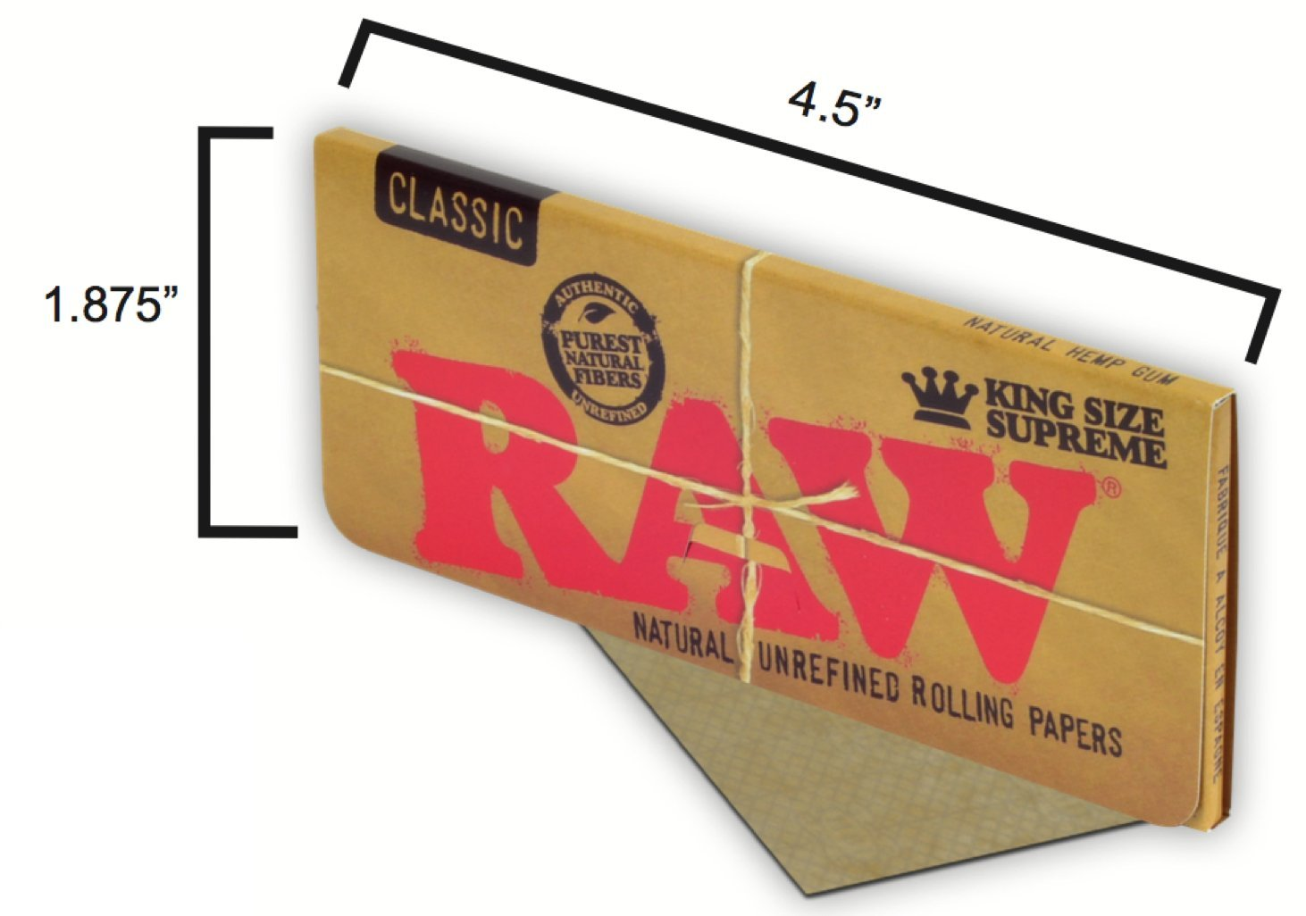 Com Raw Classic King Size Supreme Rolling Papers 3 Packs Health Personal Care