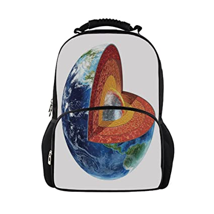 IPrint Kids School Bag EarthEarth Cross Section Showing The Inner Core Geology Science Themed