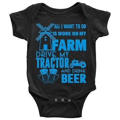 67ef23d660b6 Amazon.com  Drive My Tractor Baby Bodysuit