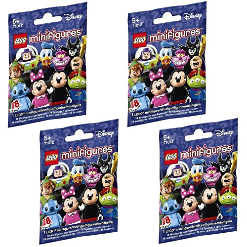 LEGO, Disney Minifigures, Bundle of 4 (71012) Styles May Vary