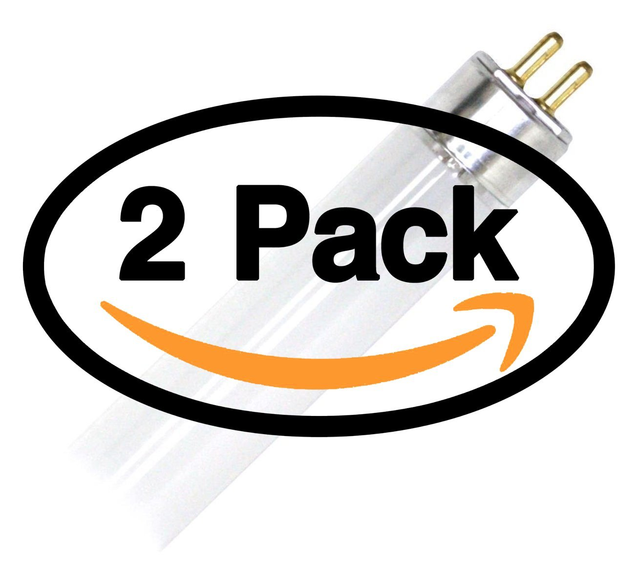(2 Pack) GE 46671 F14W/T5/835/ECO 14 Watt T5 Fluorescent Light Bulb 14W F14T5 3500K Alt to F14T5/835 F14T5/835/Alto F14T5/835 FP14/835/ECO FL14/T5/835