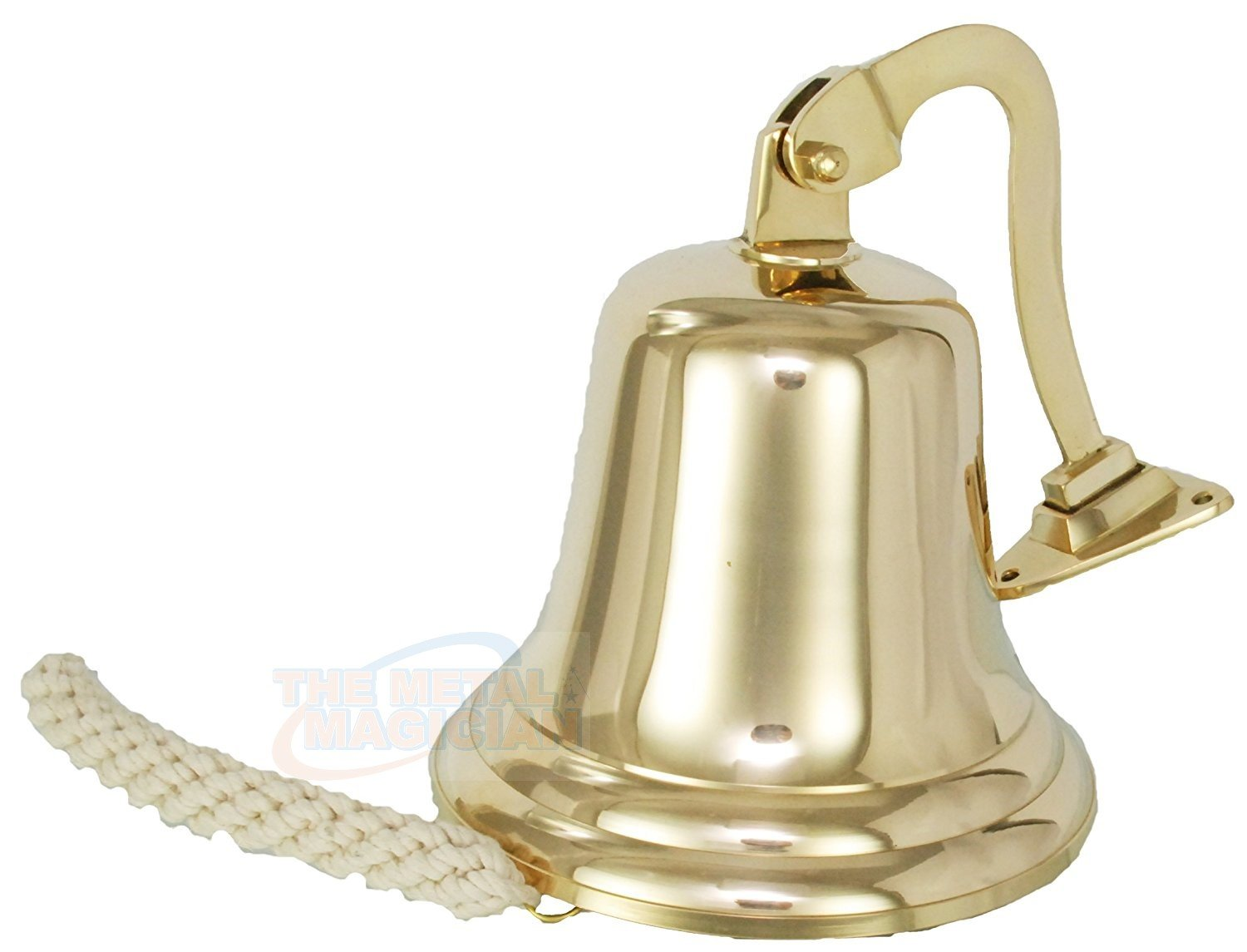 4'' Solid Brass Ship/Last Orders/Pub/Door/School/Dinner/Reception Wall Mountable Bell By The Metal Magician