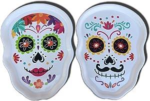 Halloween - Day of the Dead - Sugar Skull - Dia de los Muertos Serving Tray (New 2020)