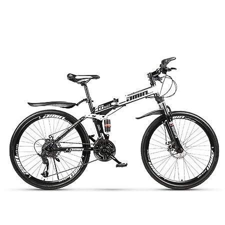 W&TT Plegable Bicicleta de montaña Adultos 21/24/27/30 velocidades ...