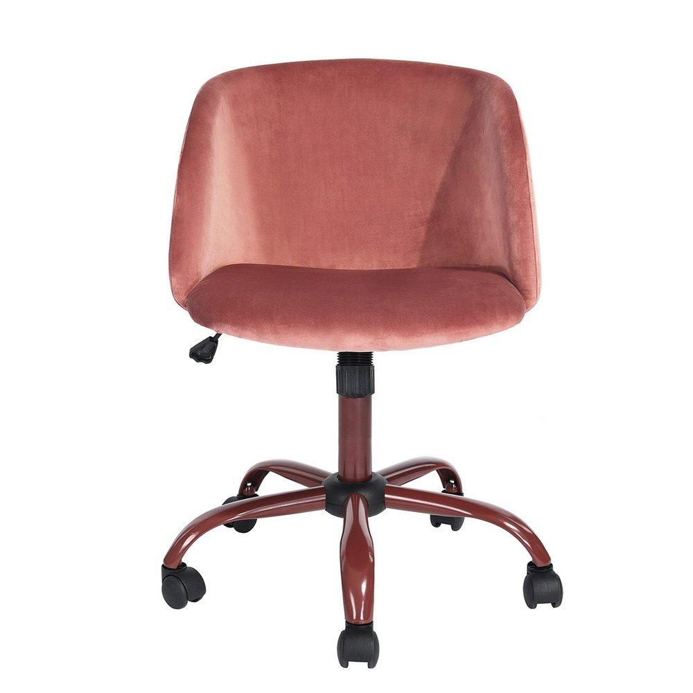 Ihouse mid back swivel computer desk chair ergonomic modern accent office task chair velvet seat