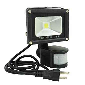 61PoLARHhvL._SX342_ glw led motion light, 10w motion sensor flood light, daylight Motion Sensor Wiring Diagram 3-Way at soozxer.org