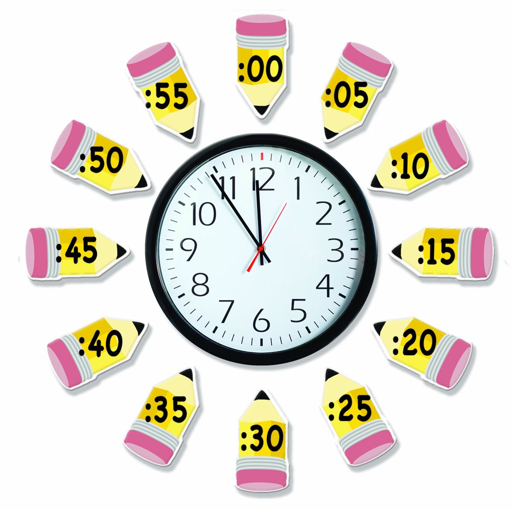 Eureka Telling Time Bulletin Board Sets To Practice Basic Time Concepts