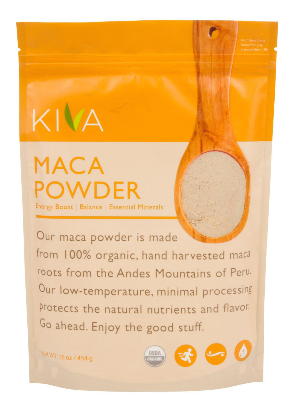 Kiva Organic Maca Powder - Non-GMO, RAW and Vegan (16-Ounce) -- LIMITED TIME SALE PRICE!!