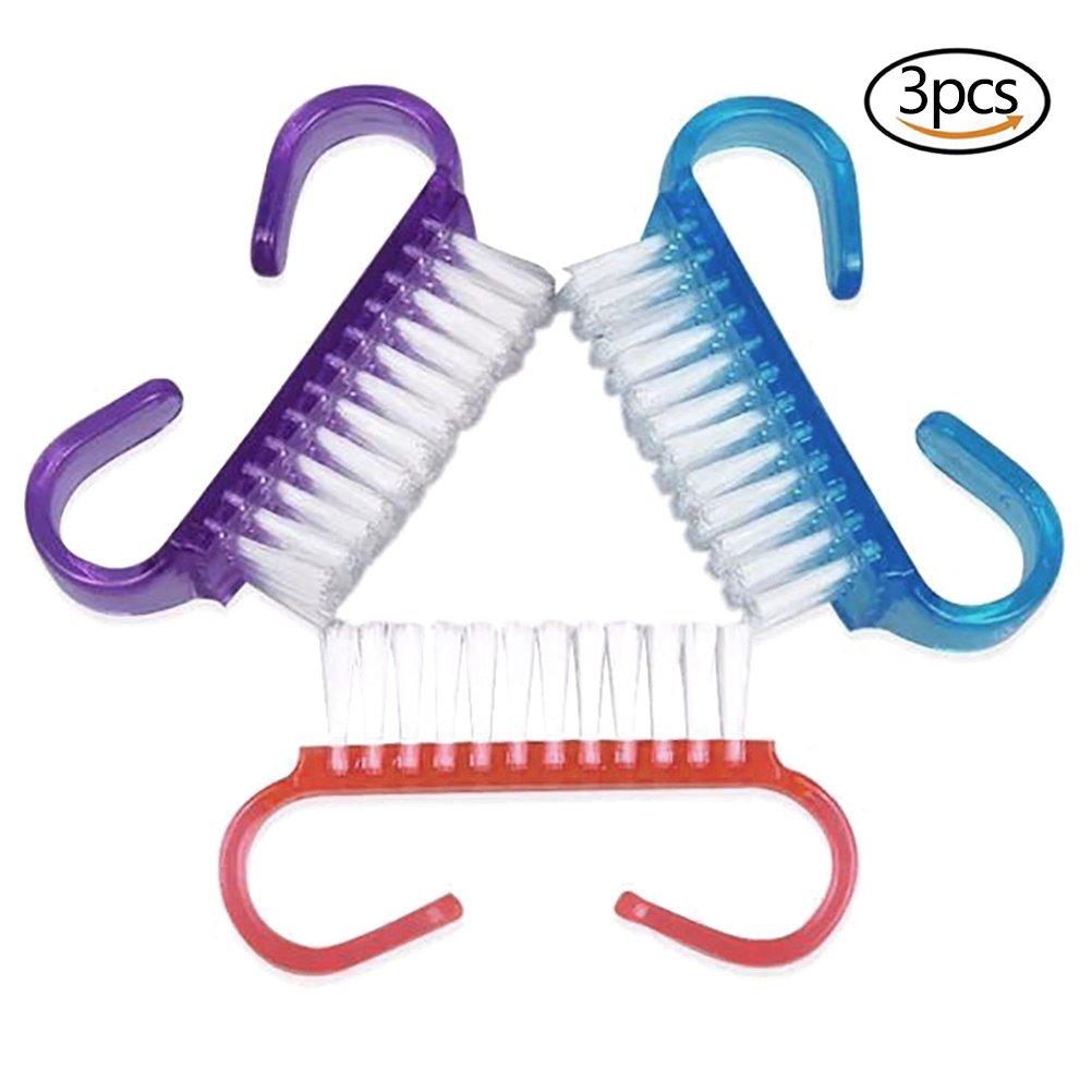 ADFEN 3pcs Mini Nail Brushes Nail Scrubbing Cleaning Brush Aduo Fenty