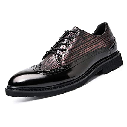 66bd37372bfc Hilotu Clearance Men's Classic Wingtip Lace Up Multicolor Leather Brogue  Boots Soft Sole Vintage Handcrafted Moda