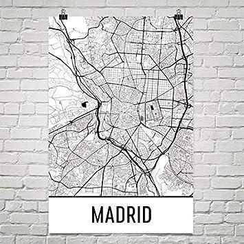 Amazon.com: Madrid Poster, Madrid Art Print, Madrid Wall Art, Madrid ...
