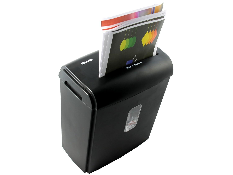 Original LMG |Premium Aktenvernichter für 8 Blatt gleichzeitig - EXTREM Schneller Papierschredder - Kreuzschnitt - mit 15 Liter Behälter, Schnell und modern - Automatischer Einzug
