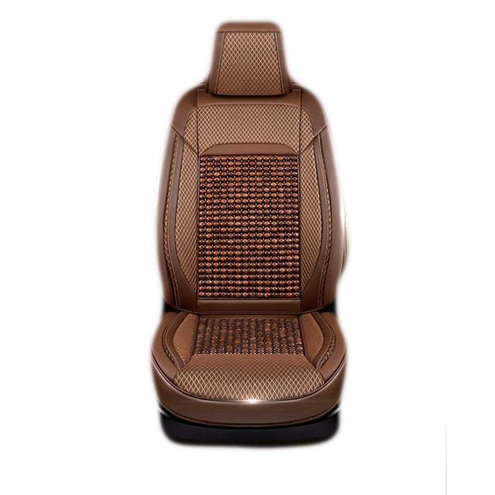 HUIFEI High-end Car Seat Haval H6 Seat Cushion F7 M6 H2s H6coupe Four Seasons Car Special Car Seat Wear-Resistant Leather Log Beads High-end car seat Cushion (Color : Yellow, Size : A)