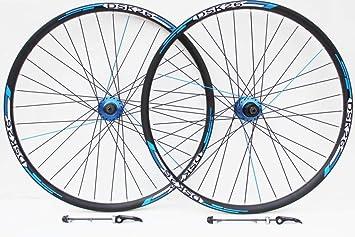 Rueda de 26 pulgadas para bicicleta de montaña, azul, huecos y ...
