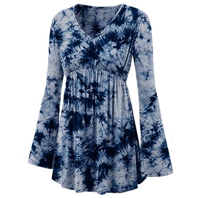 Camisetas para Mujer Blusa,BBestseller Pullover Camiseta Otoño e Invierno Estampada con Cuello en V
