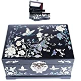 Jewelry Boxes Jewelry Organizer Gift Box Mother Of Pearl Butterfly HJL1002Black