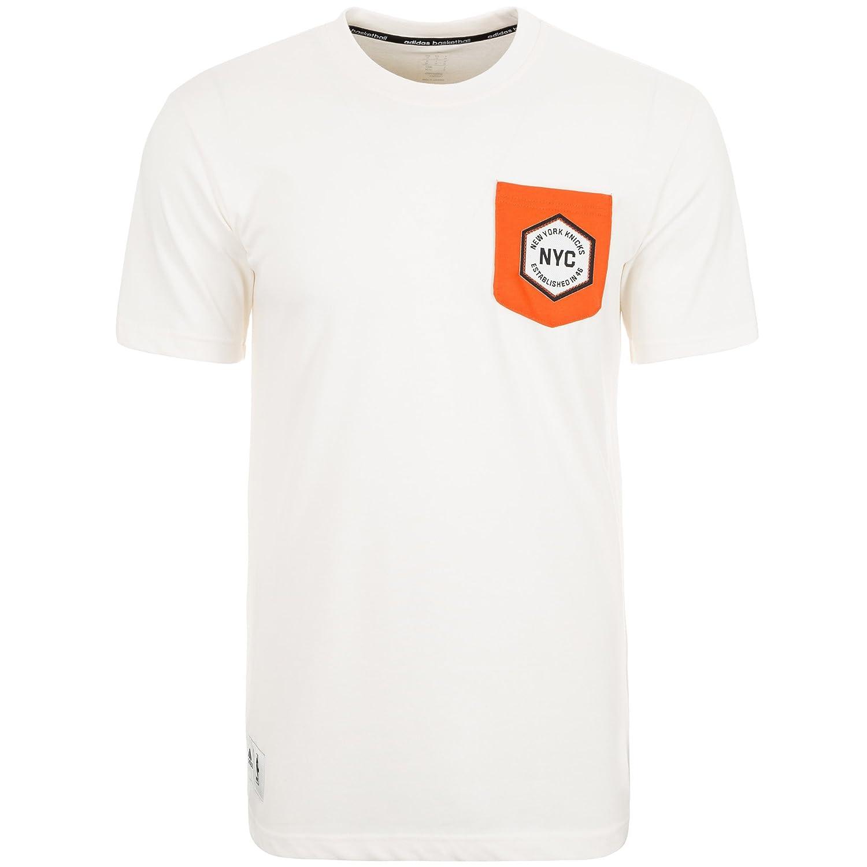 Adidas New York Knicks Washed II Camiseta de NBA Camisetas, Hombre, S29738, Beige/Orange, XL - 58: Amazon.es: Deportes y aire libre