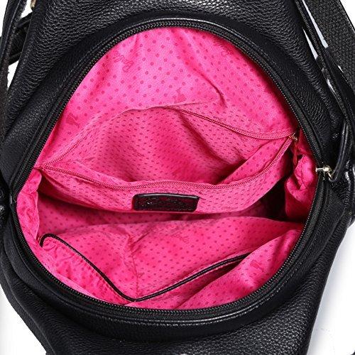 Barbie Zaino dallo stile morbido da Donna Ragazza Bambina in PU, Colore Nero, 28x14x30CM#BBBP064.01A