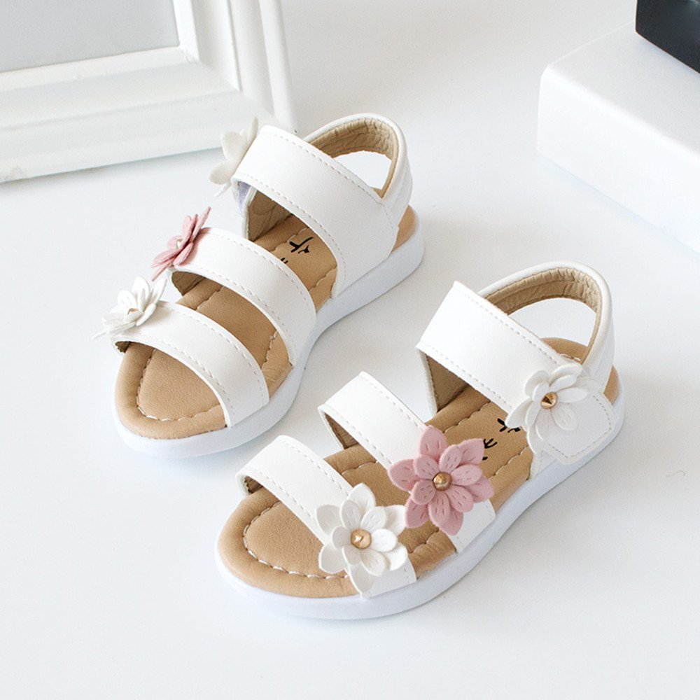 Riverdalin Infant Kids Mary Jane Sandals Baby Girls Flower Ballet Princess Shoes Wedding Party Summer Sandals
