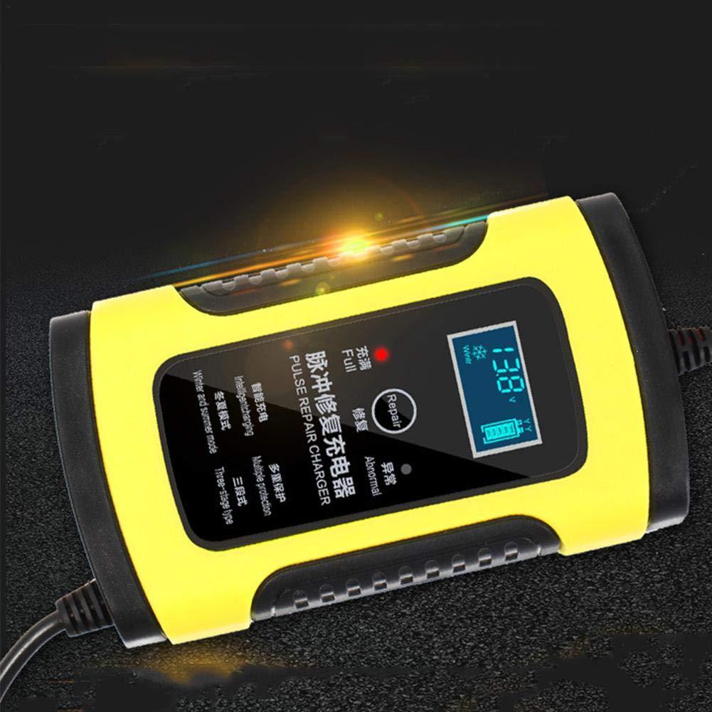 Hutiee Batterie Ladegerä t Auto Motorrad - 12V 6A Intelligente Smarte Ladegerä t, Sicherer Schutz Zum Laden Mit EIN-Knopf-Reparatur