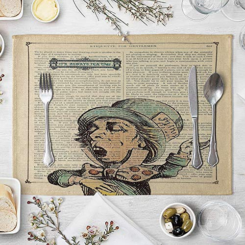 memorytime Animal Girl Book Page Heat Insulated Pad Kitchen Dining Table Mat Placemat Decor Kitchen Dining Supplies - 2# by memorytime (Image #9)