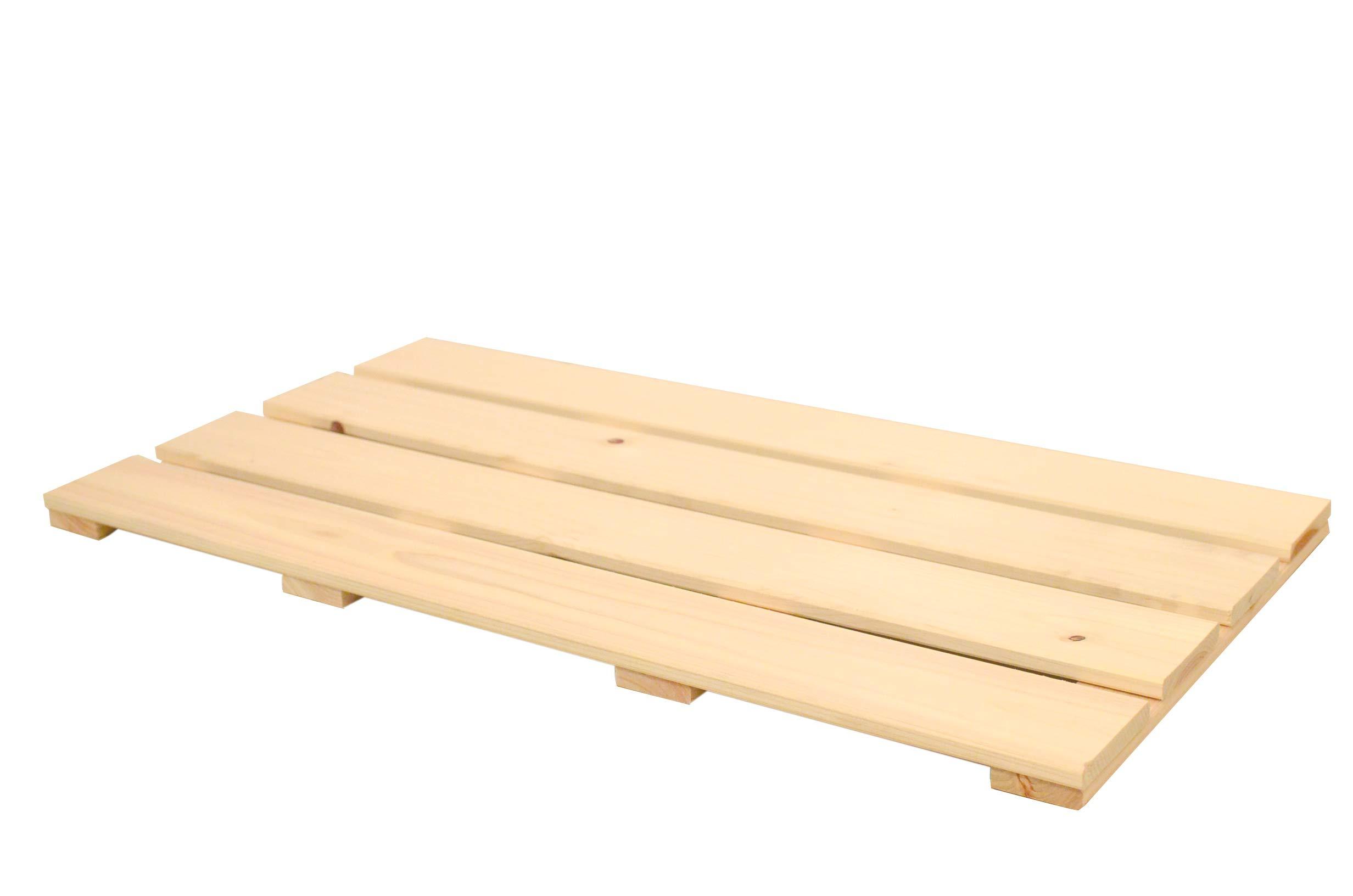 IPPINKA Hinoki Wood Shower and Bath Floor Mat, Large