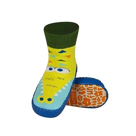 Croco – Zapatillas Calcetines Niños suela antideslizante piel – bbkdom azul azul Talla:23-