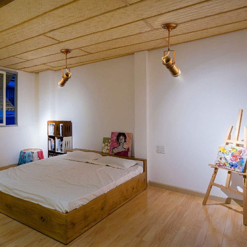 ZJⓇ Spotlight Track Light - Personality Creative Hemp Rope Bamboo Downlight Retro Hotel LED Lamp Long Rod Light - 5 Models - New Chandelier && (Size : 1) by ZJⓇ Spotlight (Image #5)