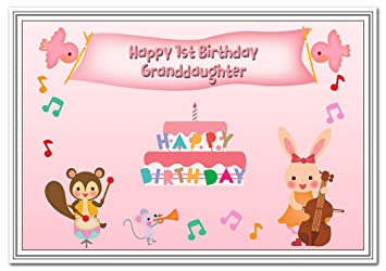 1st Birthday Cards Girls First Card 1 Year Old Baby Girl Age One