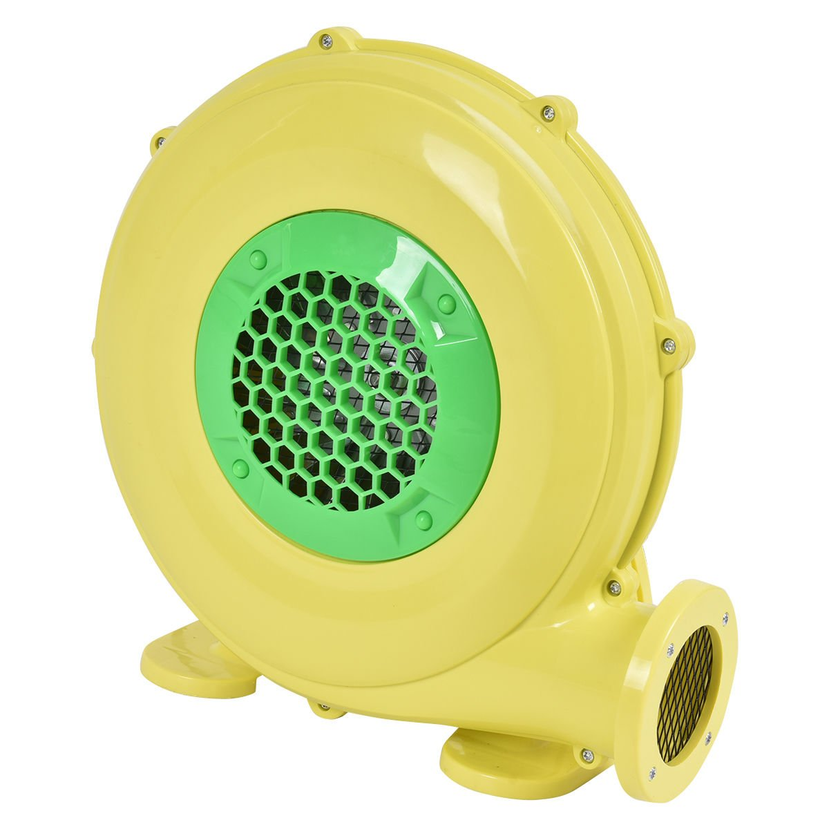 Costzon Air Blower, Pump Fan Commercial Inflatable Bouncer Blower, Perfect for Inflatable Bounce House, Jumper, Bouncy Castle (480 Watt 0.64HP) Yellow