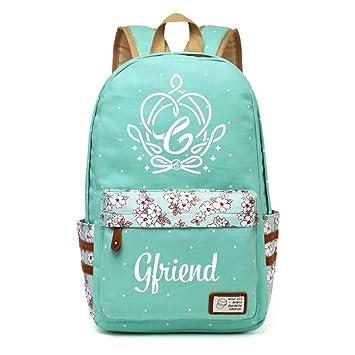 Gfriend Bolsa de lona mochilas mochila para adolescentes niñas mujeres mochilas escolares bolsa de viaje Green: Amazon.es: Equipaje