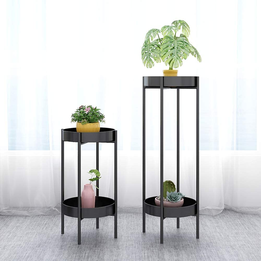 Metal Tall Plant Stand Indoor/Outdoor,Potted Plant Stand Plant Rack Planter Stand,Iron Flower Pot Holder Small Plant Holders,Flower Pot Stand Flower Pot Supporting,for Home,Garden,Patio(Black,36in)