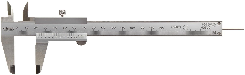 0-150mm Range +//-0.05mm Accuracy 0.05mm Resolution 02450147 Stainless Steel Mitutoyo 530-102 Vernier Caliper