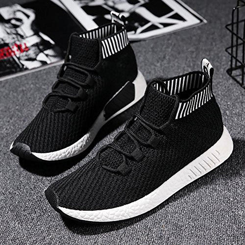 No Flyknit Sneakers White Top Town Shoes Socks Men Running Black High 66 0RArq0