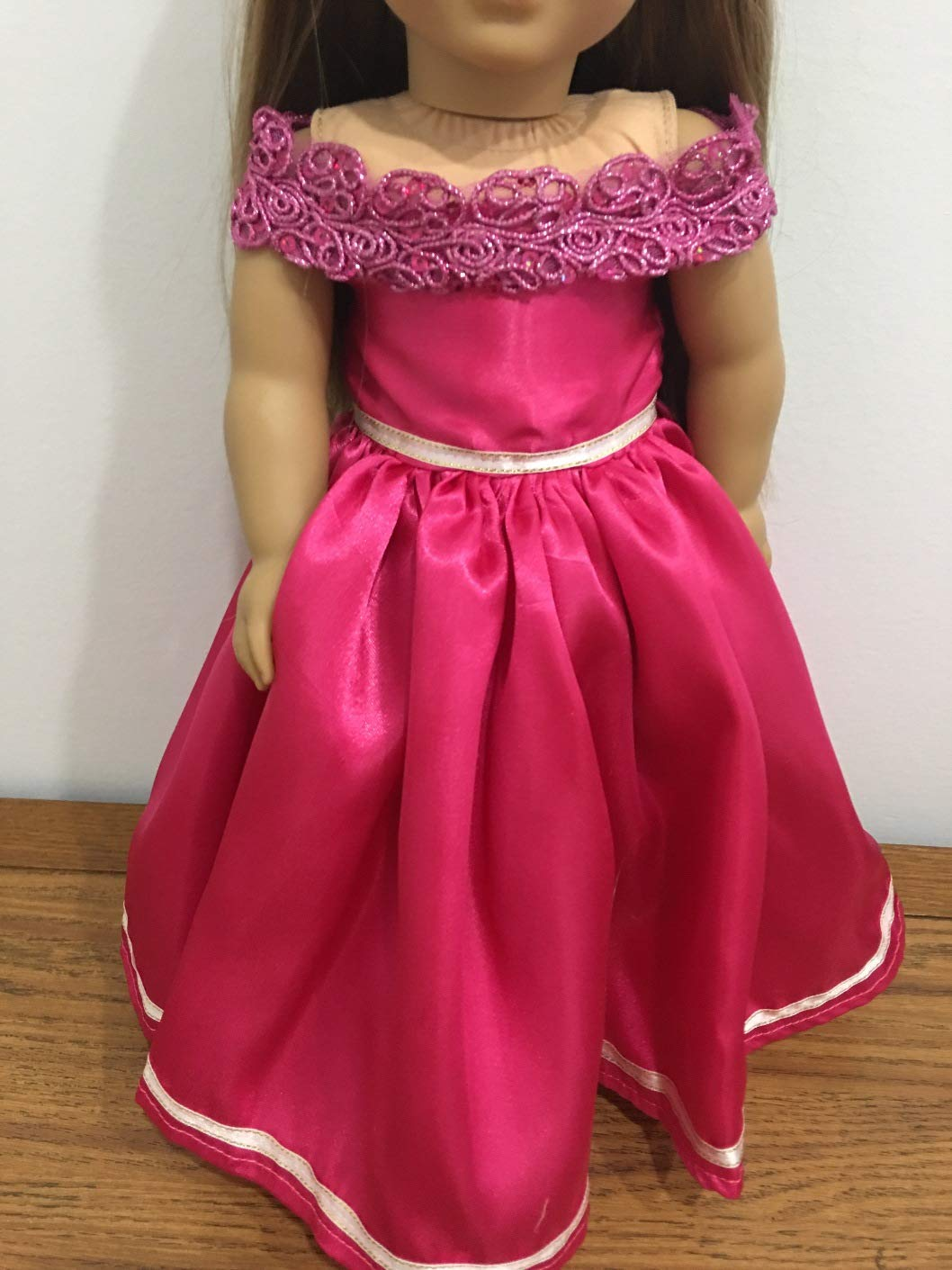 Christmas Party Dress Pink Fairy or Princess Dress Handmade Fits 18' American girl Doll Clothes, Our Generation or My Life As doll