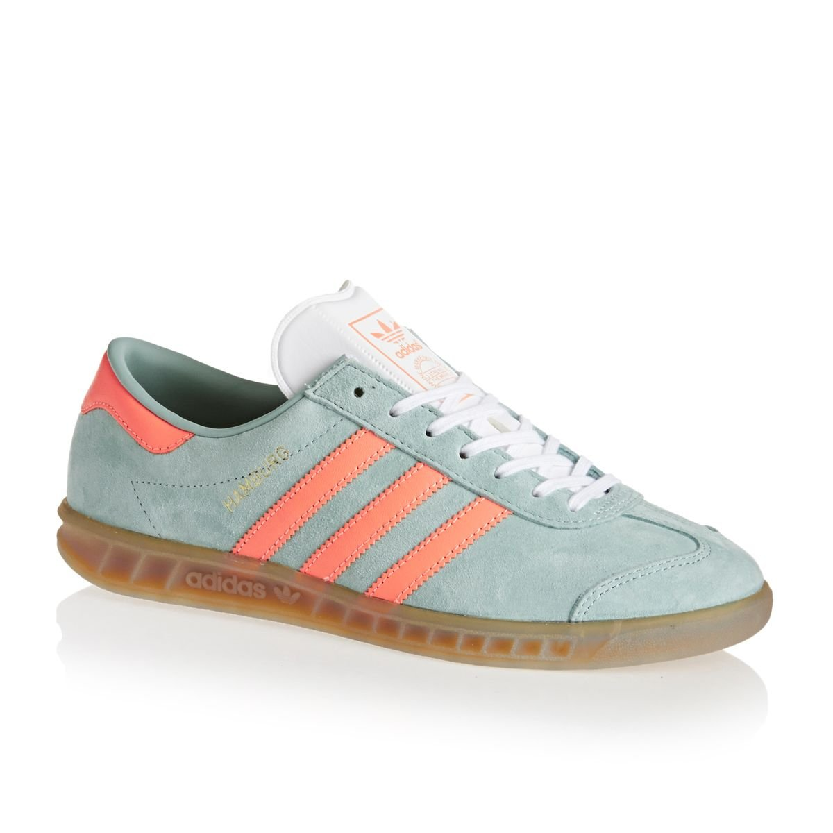 adidas Damen Hamburg bb5111 Trainer Einheitsgrouml;szlig;e  Size UK 65|Green/Salmon