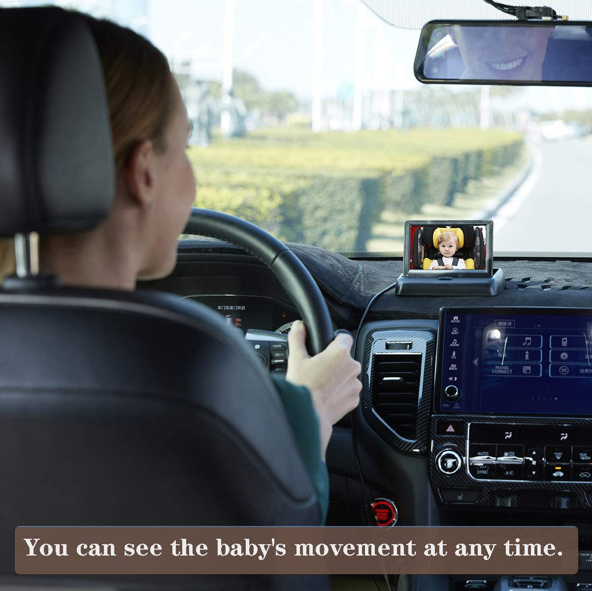 Baby Car Camera with 4.3 Inch HD Display,View Infant in Rear Facing Seat in Anytime Suitable for All Models Baby Car Mirror