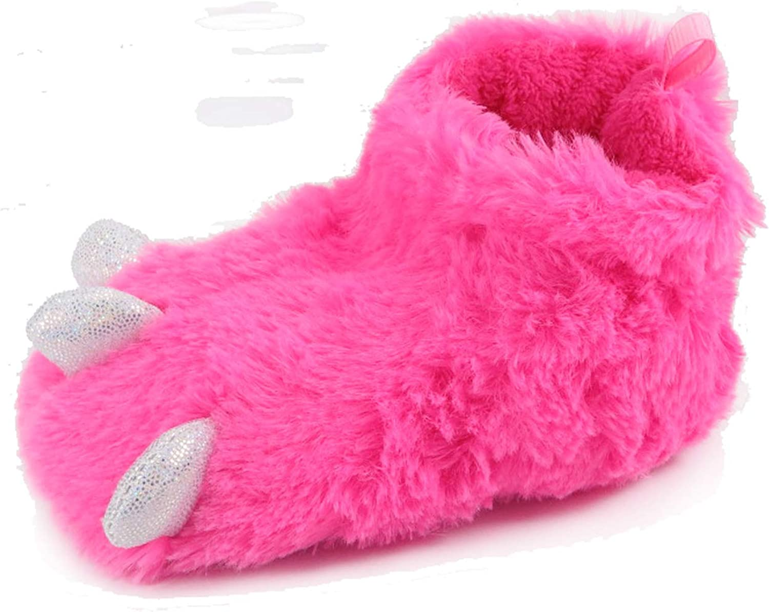 Toddler//Little Kid Kids//Boys//Girls Claw Foot Indoor House Slipper//Shoes Costume Pink