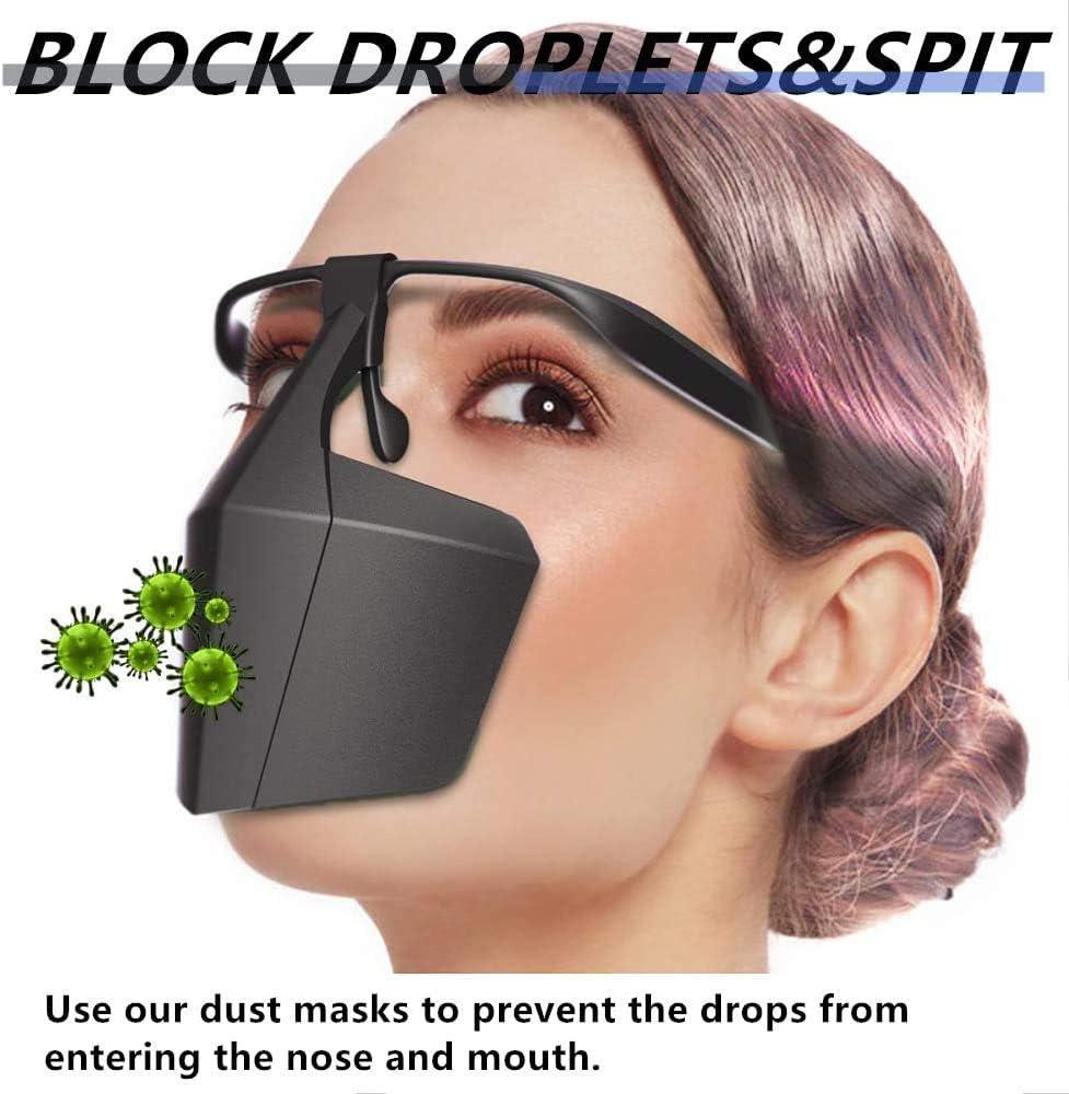 Wiederverwendbare atmungsaktive Schutz-Vollgesichtsausr/üstung Staubdichter Gesichtsschutz Verhindert die Ausbreitung von Speichel Schwarz Anti-Spuck-Schutzisolationsschutz