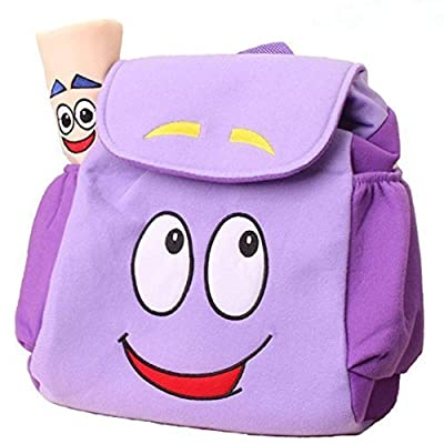 Dora Explorer Backpack Rescue Bag with Map,Dora Backpack Pre-Kindergarten Toys Purple: Clothing