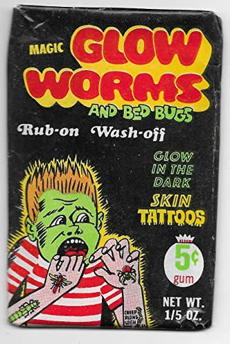 1968 Fleer Magic Glow Worms And Bed Bugs Rub-On Wash-Off Tattoos Sealed 5 Cent Pack