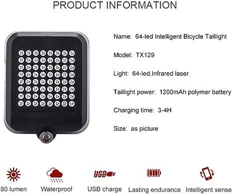 JYJLP 64 LED Indicador de dirección automático Luz Trasera Trasera ...