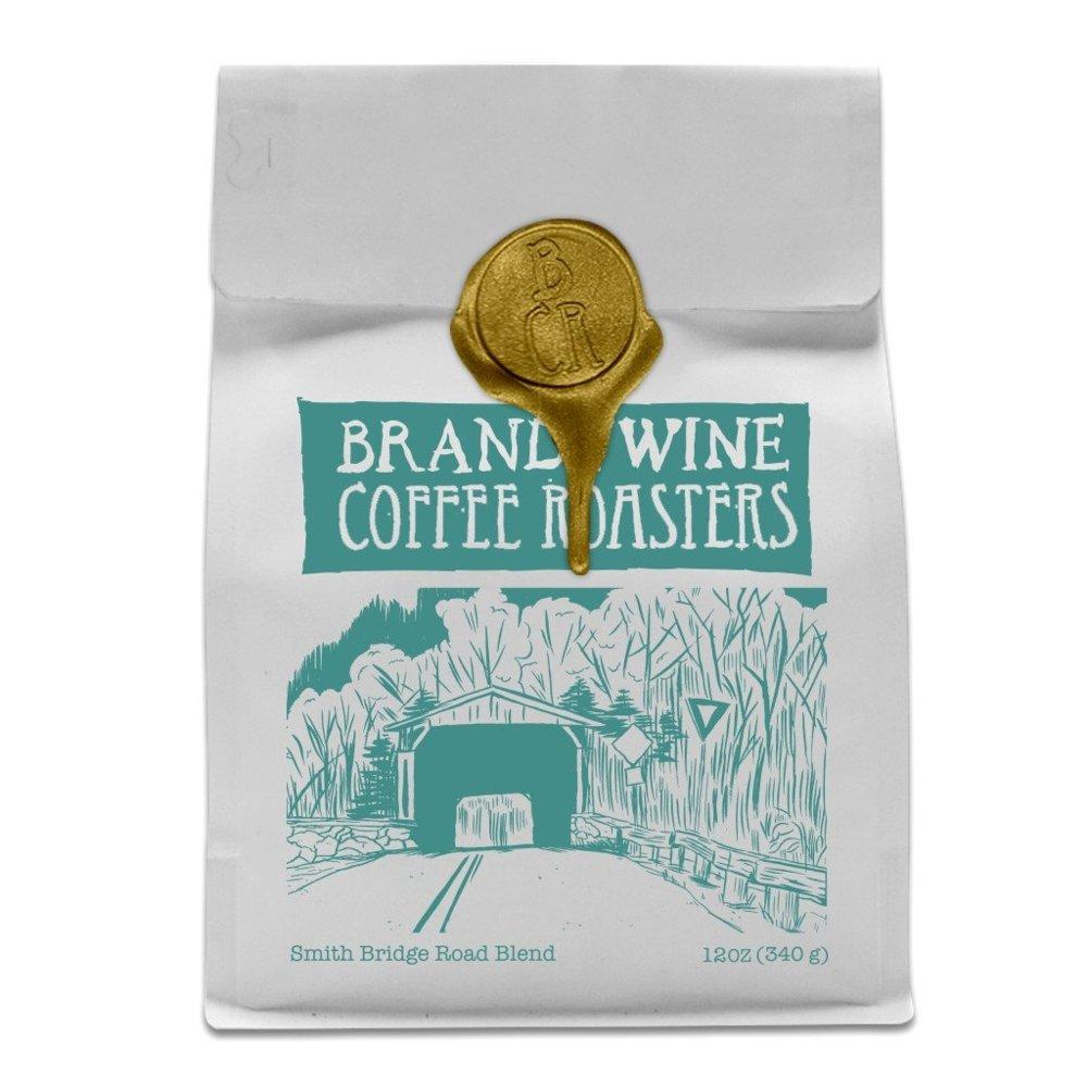 "Brandywine Coffee Roasters ""Smith Bridge Road Blend"" Medium Roasted Whole Bean Coffee - 5 Pound Bag"